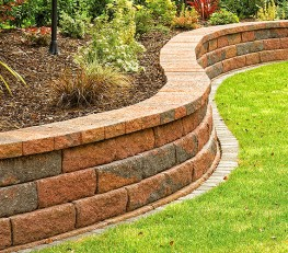 Anchor Bayfield® - A dry-build retaining wall system with a 'rough hewn' finish image