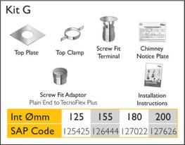 Traditional Standard kit   Kit G   Flexible Liners image