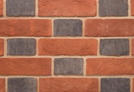 The Blue Header is an imperial sized handmade brick with a traditional blue edging.  Blue headers have historically been produced as a by-product of ancient brick manufacturing methods and used to create Flemish Bond brick patterns as well as beautiful decor...