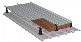 Metal profiled sheet roof covering system: - Aluminium Kalzip 65/400 - Kalzip Insulation plus 35 - E180 Clips - S10 Spacers - Kalzip VCL Clear - Steel Kalzip Liner TR35/200S...