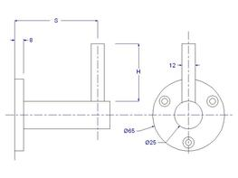 Fixed Height Handrail Bracket - WF75504-0P   - Balustrade Components UK