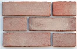A light buff pink brick slip. White sand on a red body gives a subtle hearting and light tone....