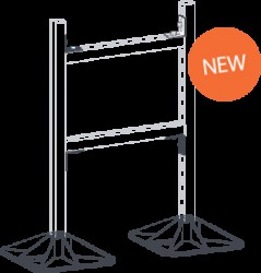 Non-penetrative supports for pipework, duct and cable ladder/tray. The H Frame Set is a quick, versatile and economical solution for supporting pipework, duct, cable trays or any combination of these. You provide your own strut, keeping the duct and pipe insta...