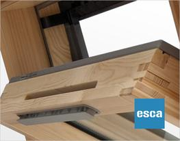The ESCA collection is a range of centre pivot / top pivot hybrid windows. With its 3/4 opening fixture, it allows uninhibited views of the exterior and easy escape in the event of an emergency. Once the two gas springs are activated by opening the handle they...