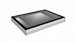 Fixed flat roof lights image