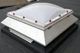 D04 - PRO DOME with 300mm ECO splayed upstand, 700x700 image