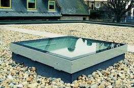 Fixed flat glass skylight with 150mm ECO VERTICAL UPSTAND image