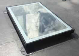 The Fixed/Unvented option is available in a rectangular shape Flat Glass rooflights are bespoke and manufactured up to 3.0m2 in size. The glass we supply is 30.8mm double glazed units comprising of 6mm clear toughened glass outer with 75mm sandblasted frame; 1...