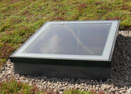 The Fixed/Unvented option is available in a square shape Flat Glass rooflights are bespoke and manufactured up to 3.0m2 in size. The glass we supply is 30.8mm double glazed units comprising of 6mm clear toughened glass outer with 75mm sandblasted frame; 18mm a...