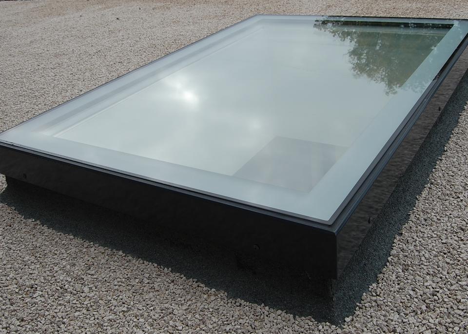 Flat Glass Fixed Non Opening Triple Glazed Rooflight