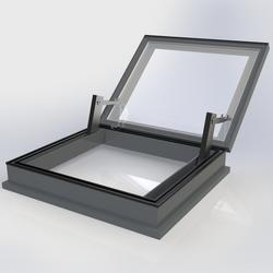 Flat Glass Electrical Automatic Smoke Vent (AOV) Rooflight image