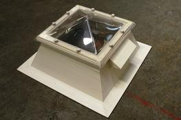 Outlook Polycarbonate Flat Roof Pyramid Rooflights image
