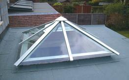 Glass/Aluminium Pyramid Rooflights image