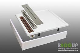 Our tray is the perfect solution for apartments or ground floor en-suites. Achieving code in city apartments without renewables is notoriously difficult; this shower heat recovery system is the answer that doesn't cost the earth.