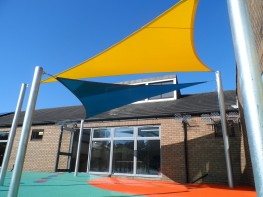 Benalla Double Overlapping Shade Structure / Shade Sail Canopy Installed image