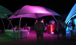 Lounger Medium 17m2 Temporary Event Shade Structure - Shaded Nation