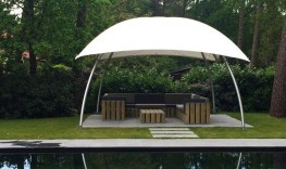 Lounger Large 26m2 Temporary Event Shade Structure - Shaded Nation