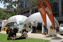 Crossover Medium 38m2 Temporary Event Shade Structure - Shaded Nation