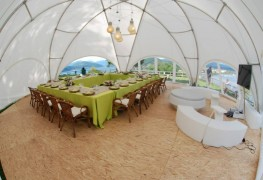 Hexadome Medium 100m2 Dome Temporary Event Shade Structure - Shaded Nation