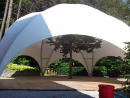 Hexadome Large 175m2 Dome Temporary Event Shade Structure - Shaded Nation