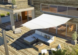 Automated Elips4Sun Retractable Retractable Fabric Roof - Sun Shade Canopy image