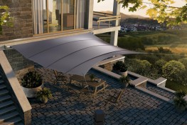 Automated Square4Sun Retractable Retractable Fabric Roof - Sun Shade Canopy image