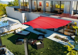 Automated Trapez4Sun Retractable Fabric Roof - Sun Shade Canopy image