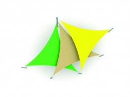 Albany Triple Overlapping Sail Shade Structure Canopy - Shaded Nation