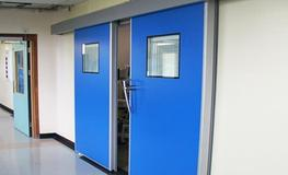 Operating Theatres - Hygienic Bi-Parting Sliding GRP Doors image