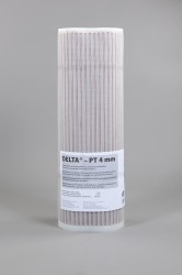 This slimline damp proofing membrane is the same as our DELTA® PT Lath but has a 4mm profile and a roll size of 1m x 15m, making it ideal for damp-proofing, window reveals or space sensitive areas. It has a fluted/corrugated embossed pattern instead of the st...