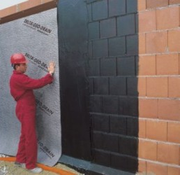Compact 4 layer composite membrane used externally, vertically and horizontally. The Geo-Drain Quattro has a very high compression strength, and acts as a protection layer over flexible waterproofing. It can be used up to depths of 10 metres. It is manufacture...