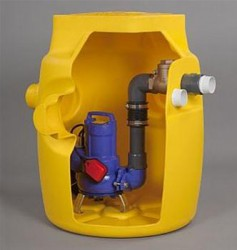 A packaged pump station designed to collect foul water from basements and ground floor extensions where other facilities in the property discharge via gravity. A typical application would be the collection and discharge of foul water from a basement fitted wit...