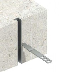 A high performance, self-anchoring cast-in channel slot with cavity wall tie....