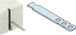 A high performance, self-anchoring cast-in channel slot with shear tie....
