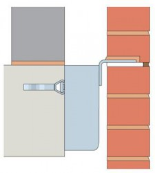 MDC-I is a bespoke stainless steel masonry support system with the support angle at the top of the bracket....