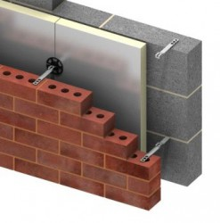 A two-part wall tie for connecting the leaves of cavity wall. One section is built into the blockwork and the other section is fixed as the outer leaf is constructed....