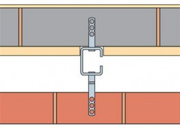 Ancon Windposts span vertically between floors to provide lateral support for panels of masonry. The WP1 is a lipped channel section windpost which installs within the cavity leaving the blockwork undisturbed....