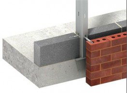 Ancon Windposts span vertically between floors to provide lateral support for panels of brickwork. The WP2 is an angle section windpost. One leg of the post is built into the blockwork....