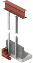 Ancon Windposts span vertically between floors to provide lateral support for panels of brickwork. The WP3 is a channel section windpost which installs within the cavity leaving the blockwork undisturbed....