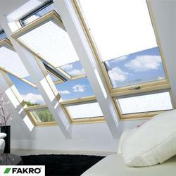 FDY-V P2 Natural Pine, Laminated Double Glazed Duet ProSky Window with a Lower Transom and a Raised Axis of Rotation - FAKRO