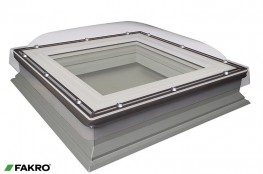 DMC-C P2 Manually Operated Double Glazed + Polycarbonate Dome, Domed Flat Roof Window image
