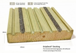 GripDeck® SW Softwood Anti Slip Decking image