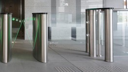 The Elegant Access Gate. Although speed gates or tripod turnstiles offer the optimal balance between high capacity throughput and security in the lobby of a building, their design often makes it difficult to provide secured disabled access or access to trolley...