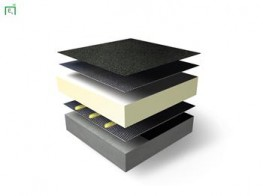 VAP AL SK is a vapour control layer, self-adhesive on the undersurface and sanded on the surface. Minimum selvedge width is 80mm. Longitudinal side laps are self-adhesive on the under surface. End laps are torched (15cm)....