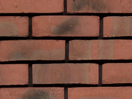 Stock brick (65mm), red in colour with a distressed texture....