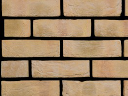 Stock brick (65mm), buff in colour with a sandcreased texture....