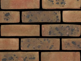 Stock brick (65mm), brown in colour with a sandfaced texture....