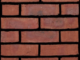 Waterstruck brick (65mm), red in colour with a distressed texture....