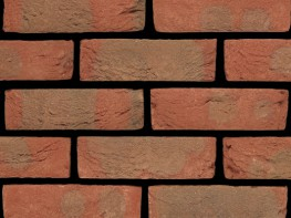 Stock brick (65mm), red with a sandcreased texture....