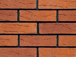 Wirecut brick (65mm), red in colour with a rolled texture....